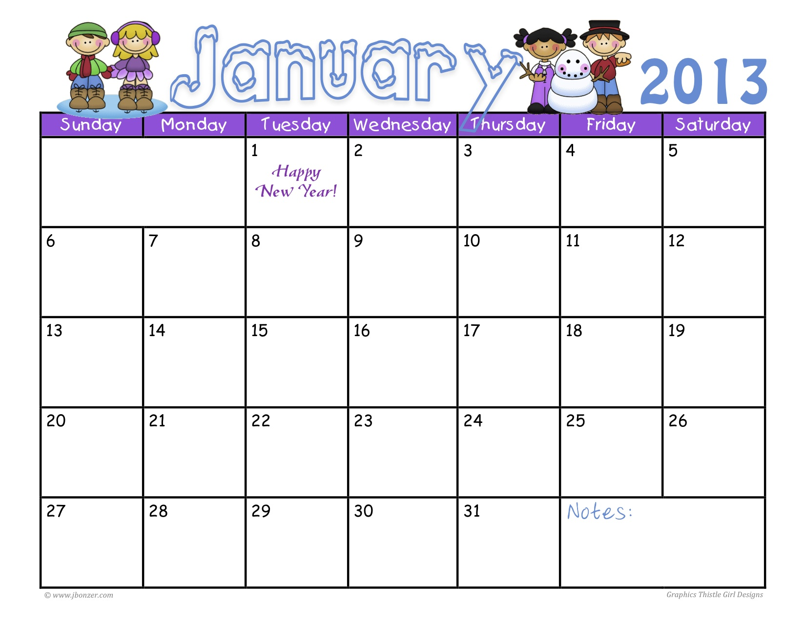 January Calendar Kids : January events at ekmha