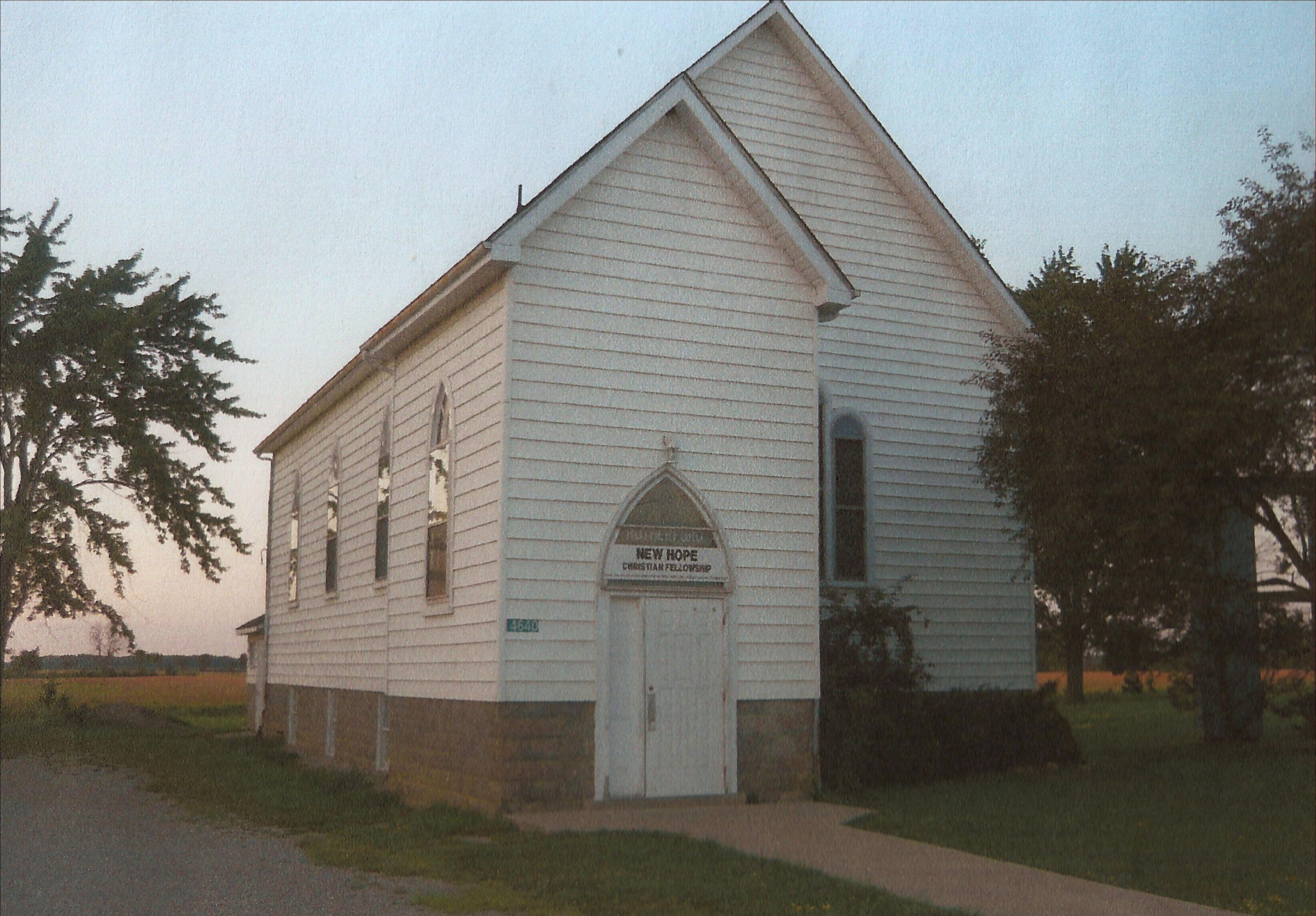 White wooden frame church