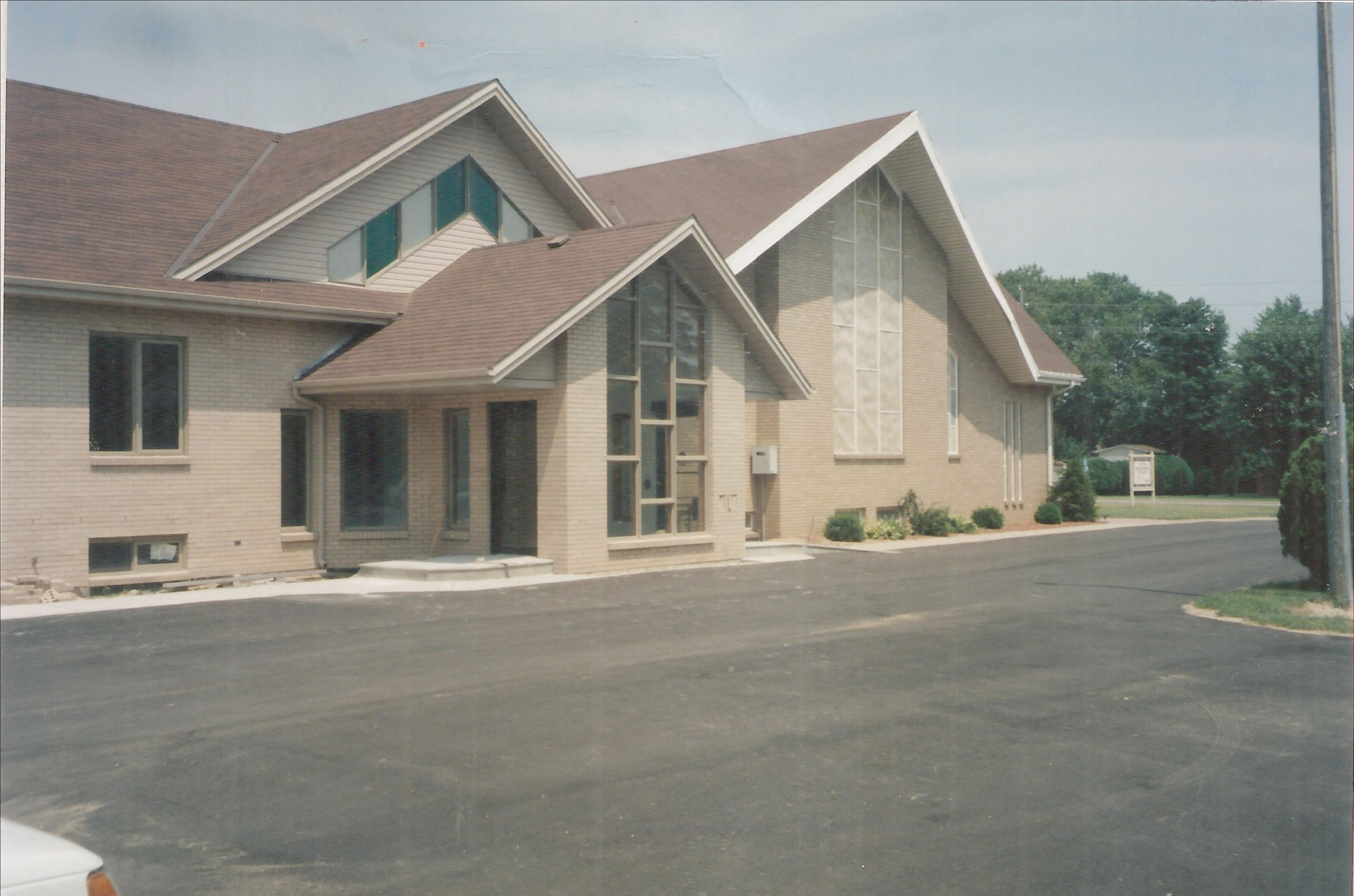 Yellow brick Church new front