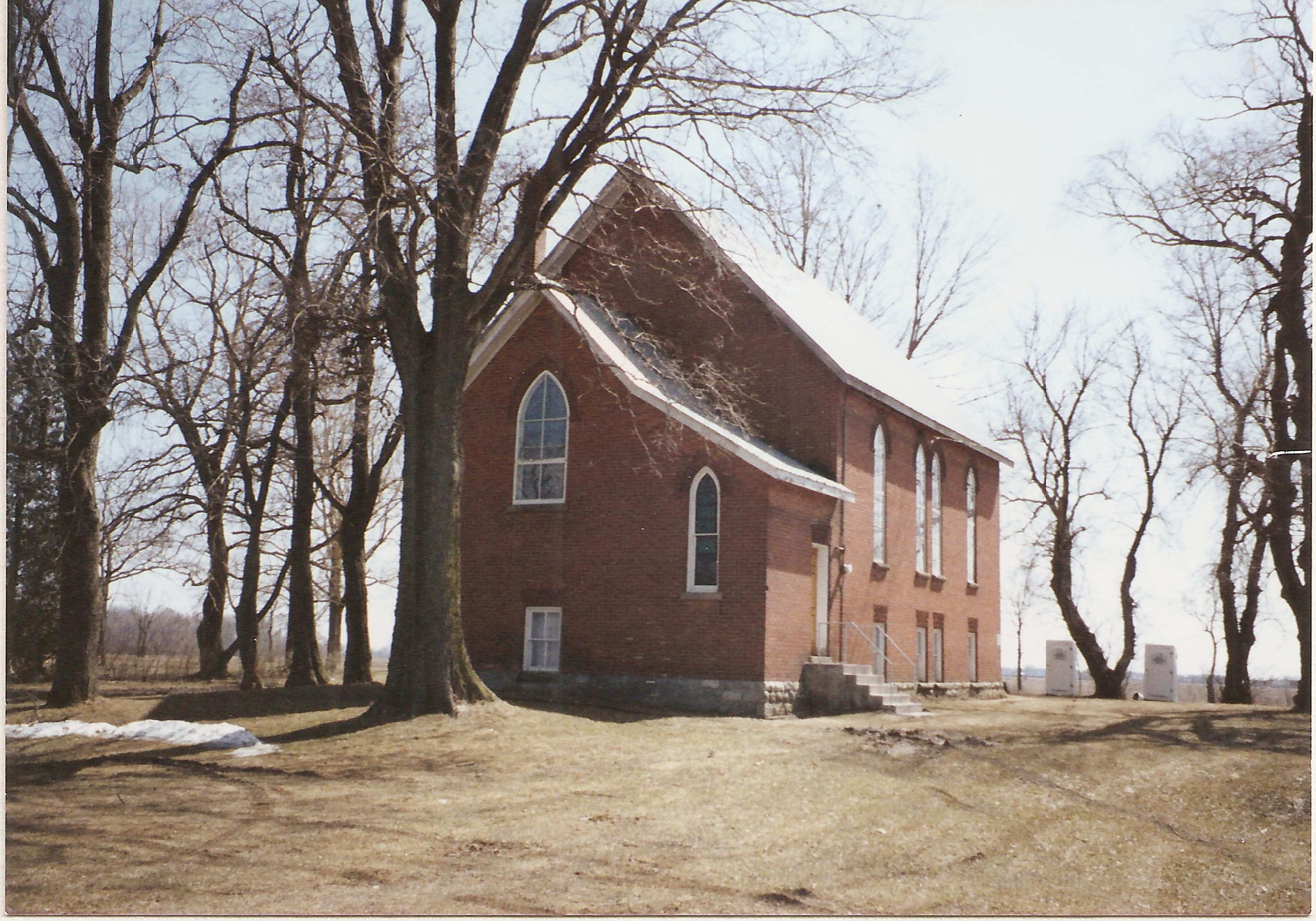 Old red brick former schoolhouse