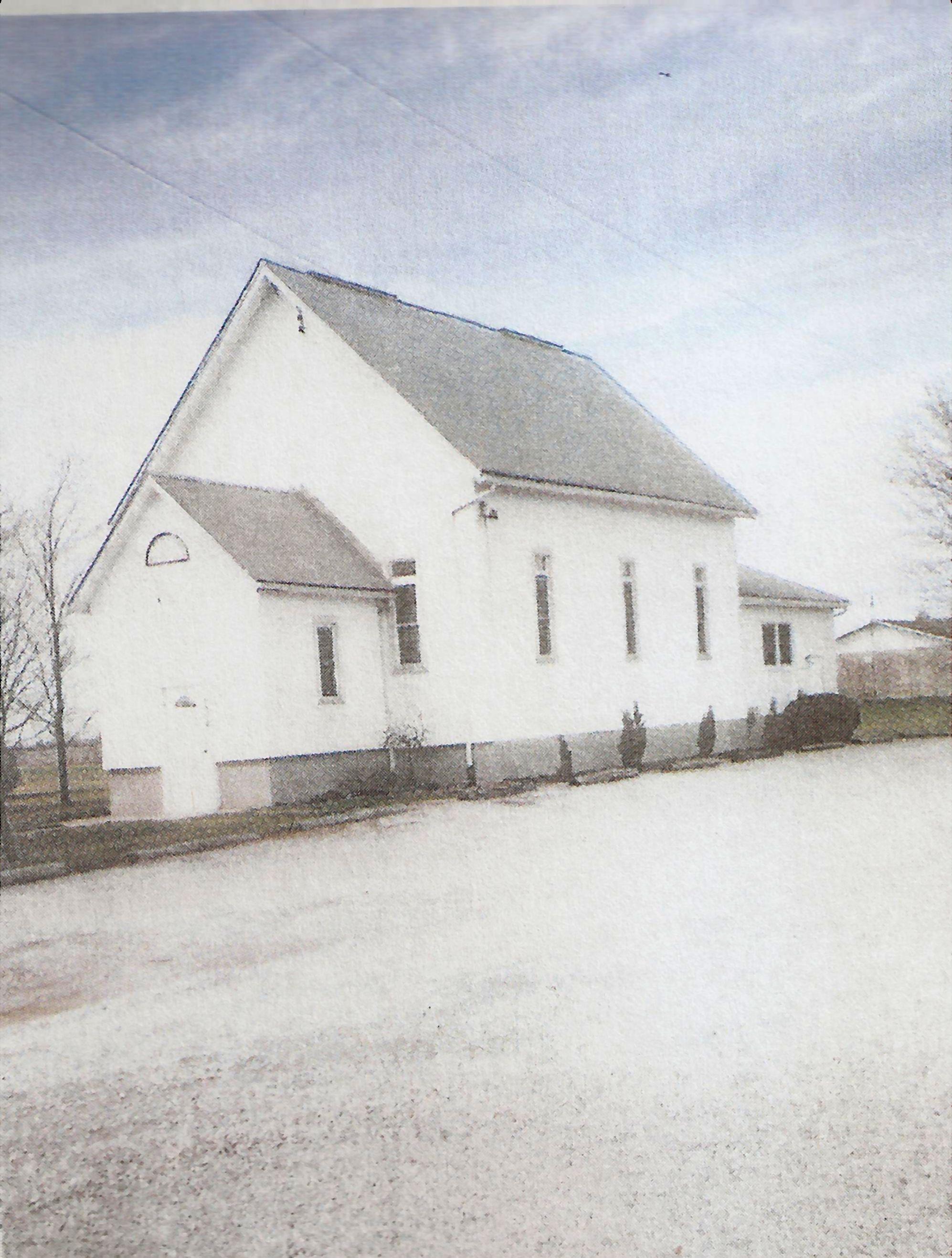 White frame church
