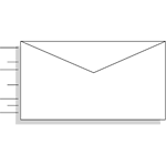 An envelope with lines to indicate motion